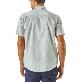 Patagonia Bluffside Lightweight SS Shirt Men Jib Stripe: Railroad Blue